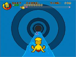 In game image of Virtual Bart on the Nintendo SNES.