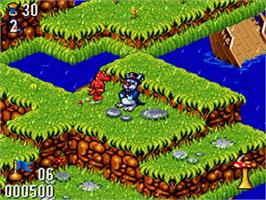 In game image of Whizz on the Nintendo SNES.