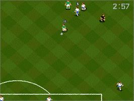 In game image of World Cup USA '94 on the Nintendo SNES.