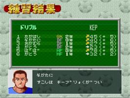 In game image of Zenkoku Koukou Soccer Senshuken '96 on the Nintendo SNES.