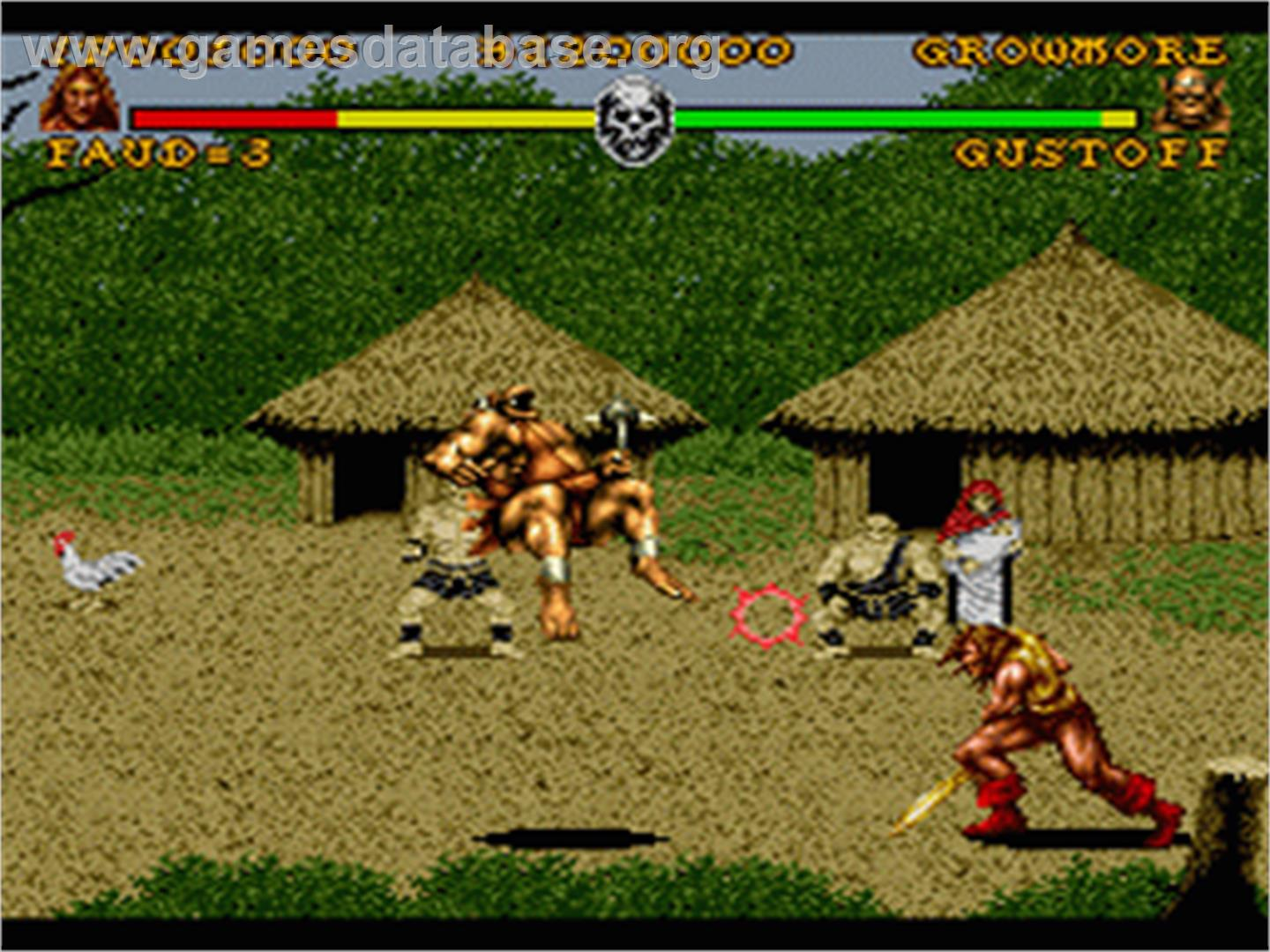 In game image of Battle Blaze on the Nintendo SNES.