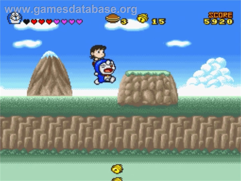 Doraemon 4 nobita to tsuki no oukoku nintendo snes for Doraemon new games