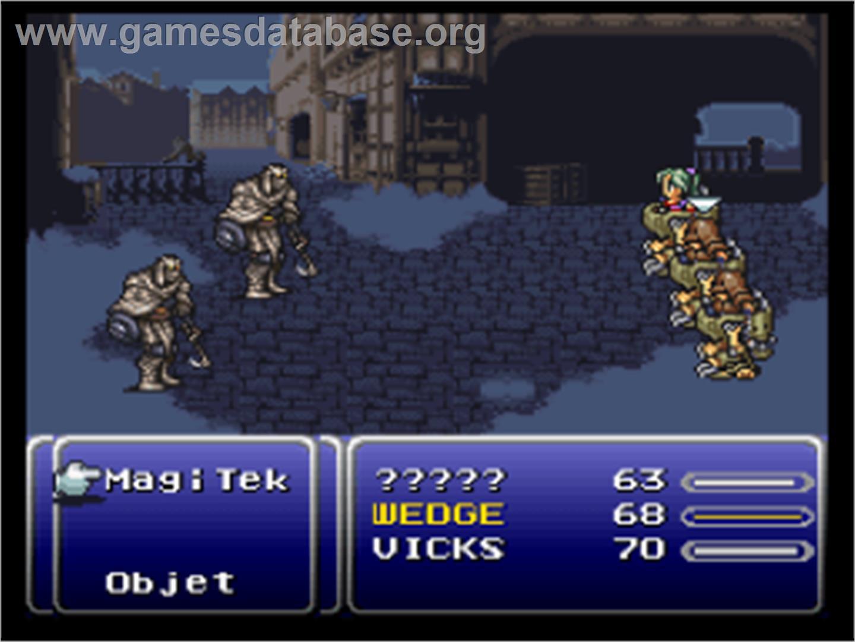 Final Fantasy 6 Rom final fantasy iii - nintendo snes - artwork - in game