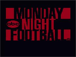 Title screen of ABC Monday Night Football on the Nintendo SNES.