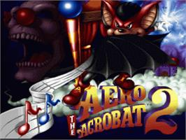 Title screen of Aero the Acro-Bat 2 on the Nintendo SNES.