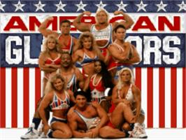 Title screen of American Gladiators on the Nintendo SNES.