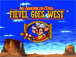 Title screen of An American Tail: Fievel Goes West on the Nintendo SNES.