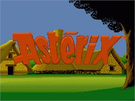 Title screen of Astérix on the Nintendo SNES.