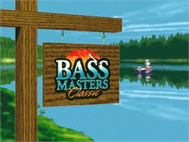 Title screen of BASS Masters Classic on the Nintendo SNES.