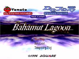 Title screen of Bahamut Lagoon on the Nintendo SNES.