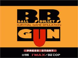 Title screen of Ball Bullet Gun: Survival Game Simulation on the Nintendo SNES.