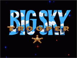 Title screen of Big Sky Trooper on the Nintendo SNES.