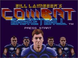 Title screen of Bill Laimbeer's Combat Basketball on the Nintendo SNES.