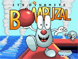 Title screen of Bombuzal on the Nintendo SNES.