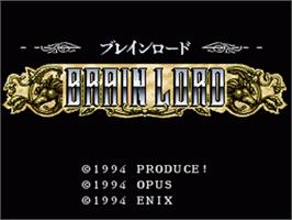 Title screen of Brain Lord on the Nintendo SNES.