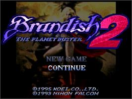 Title screen of Brandish 2: The Planet Buster on the Nintendo SNES.