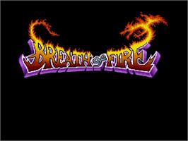 Title screen of Breath of Fire on the Nintendo SNES.