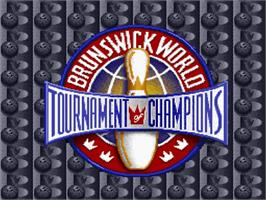 Title screen of Brunswick World Tournament of Champions on the Nintendo SNES.