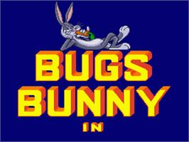 Title screen of Bugs Bunny Rabbit Rampage on the Nintendo SNES.