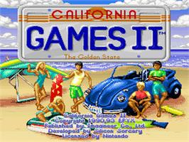 Title screen of California Games II on the Nintendo SNES.