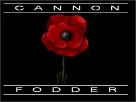 Title screen of Cannon Fodder on the Nintendo SNES.