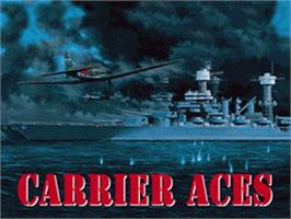 Title screen of Carrier Aces on the Nintendo SNES.