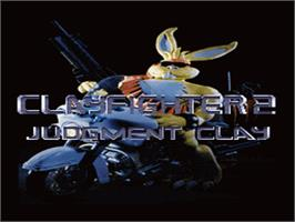 Title screen of Clay Fighter 2: Judgement Clay on the Nintendo SNES.