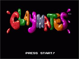 Title screen of Claymates on the Nintendo SNES.