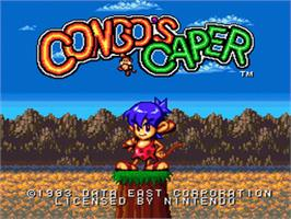 Title screen of Congo's Caper on the Nintendo SNES.