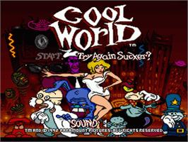Title screen of Cool World on the Nintendo SNES.