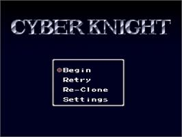 Title screen of Cyber Knight on the Nintendo SNES.