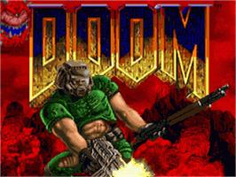 Title screen of DOOM on the Nintendo SNES.