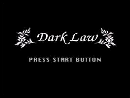 Title screen of Dark Law: The Meaning of Death on the Nintendo SNES.