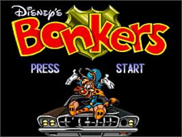 Title screen of Disney's Bonkers on the Nintendo SNES.