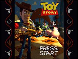 Title screen of Disney's Toy Story on the Nintendo SNES.