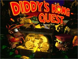 Title screen of Donkey Kong Country 2: Diddy's Kong Quest on the Nintendo SNES.