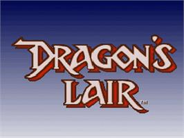 Title screen of Dragon's Lair on the Nintendo SNES.