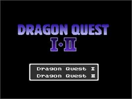 Title screen of Dragon Quest I & II on the Nintendo SNES.