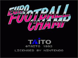 Title screen of European Football Champ on the Nintendo SNES.
