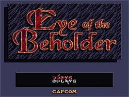 Title screen of Eye of the Beholder on the Nintendo SNES.