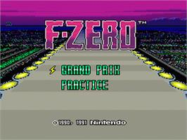 Title screen of F-Zero on the Nintendo SNES.