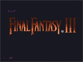 Title screen of Final Fantasy III on the Nintendo SNES.
