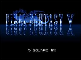Title screen of Final Fantasy V on the Nintendo SNES.