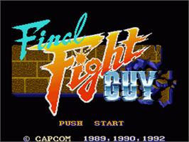 Title screen of Final Fight Guy on the Nintendo SNES.