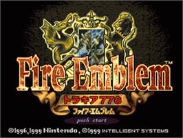 Title screen of Fire Emblem: Thracia 776 on the Nintendo SNES.