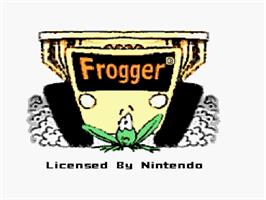 Title screen of Frogger on the Nintendo SNES.
