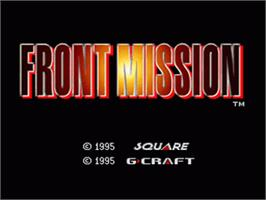 Title screen of Front Mission on the Nintendo SNES.
