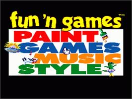 Title screen of Fun 'N Games on the Nintendo SNES.
