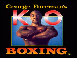 Title screen of George Foreman's KO Boxing on the Nintendo SNES.