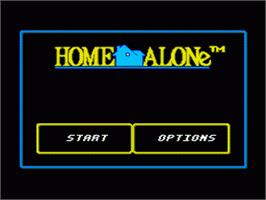 Title screen of Home Alone on the Nintendo SNES.